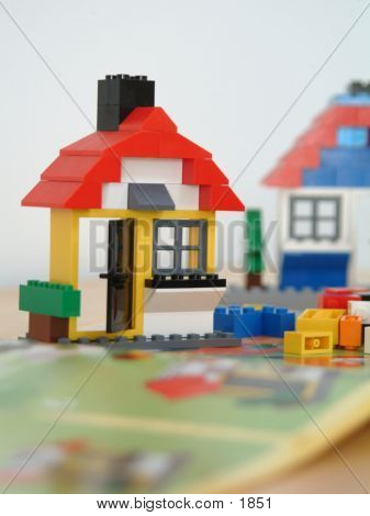 houses, building blocks poster