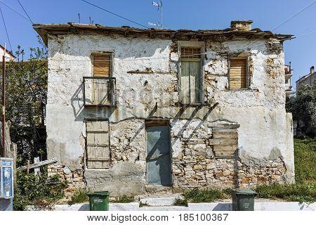 Old houses in Skala Kallirachis, Thassos island, East Macedonia and Thrace, Greece