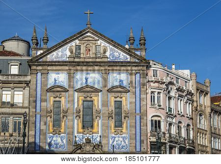 Congregates Church (or Saint Anthony's Church) in Porto Portugal
