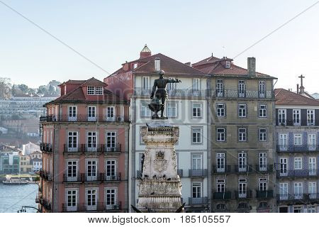 Statue of Prince Henry the Navigator in Porto Portugal
