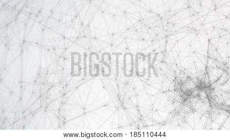 Digitally Generated Image. Big Data Complex Vector. Connecting Dots And Lines. Science Background.