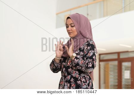 Humble Muslim Prayer Woman