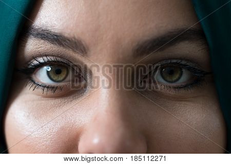 Eyes Of A Muslim Woman Close-up
