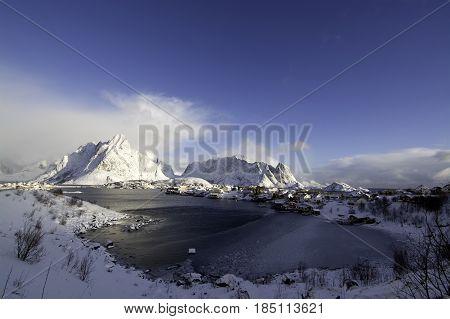 Morning In Reine At The Lofoten, Norway