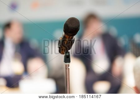 Microphone on the stand at the auditorium