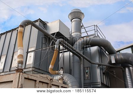 Industrial Factory Air Filtration System.