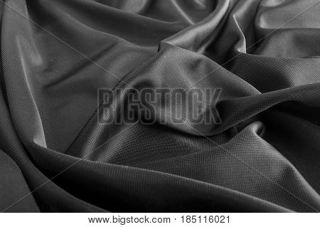 Carbon Fiber Fabric Textile Texture Background For Fashion Designers.