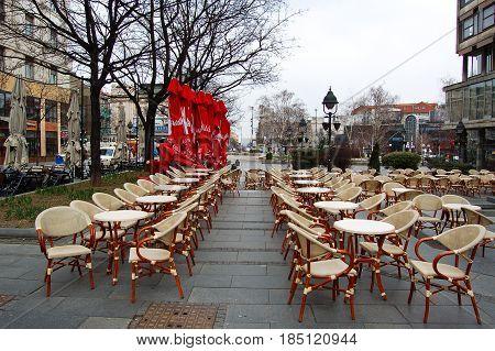 21 march 2009-belgrado-serbia-Bar in the central streets of belgrade in serbia
