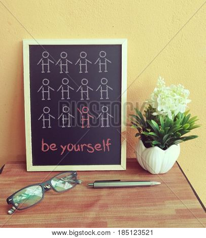 Stand out and be yourself