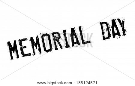 Memorial Day rubber stamp. Grunge design with dust scratches. Effects can be easily removed for a clean, crisp look. Color is easily changed.