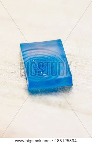 Crystal Made Of Blue Epoxy Resin