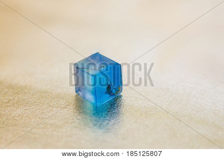 Crystal Made Of Epoxy Resin With Flower