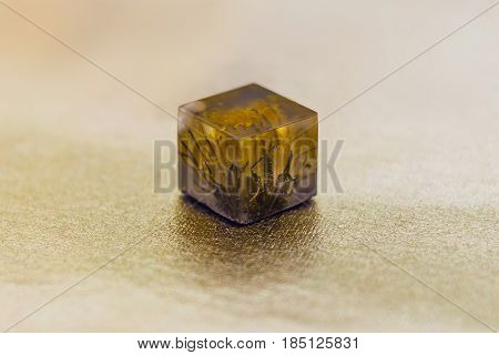 Crystal With Flower Made Of Epoxy Resin