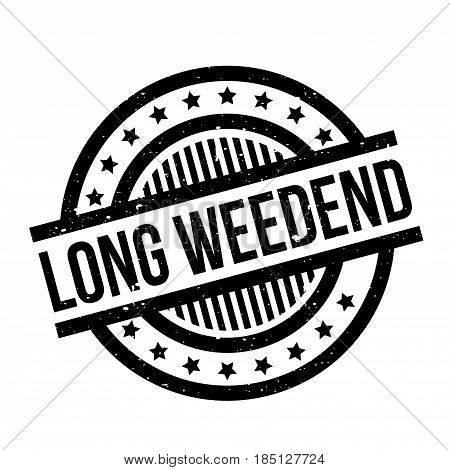 Long Weedend rubber stamp. Grunge design with dust scratches. Effects can be easily removed for a clean, crisp look. Color is easily changed.