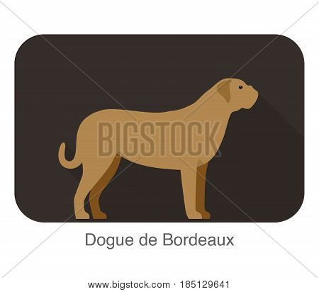 Dogue De Bordeaux Dog Standing And Watching