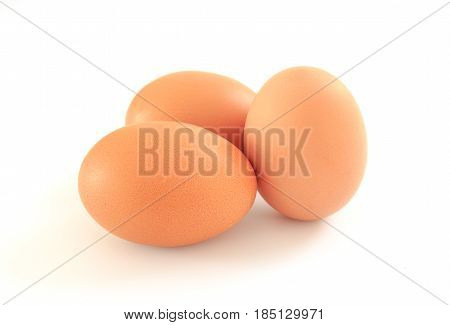 eggs isolated on a white background Closed up