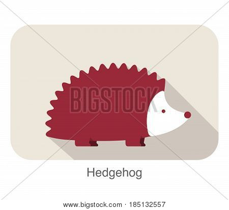 Cute Hedgehog Cartoon, Vector Illustration