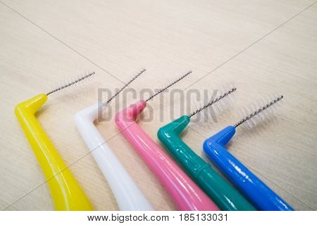 Various Type Of Floss And Inter-dental Brushes