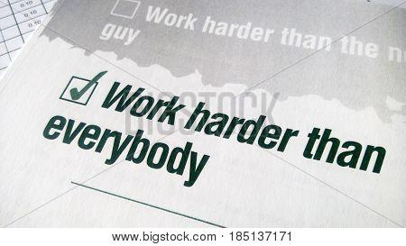 Work Harder Than Everybody