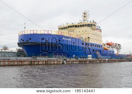 ST.PETERSBURG, RUSSIA - APRIL 30, 2016: Modern icebreaker