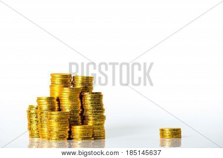 A Large Amount Of Coins, Money