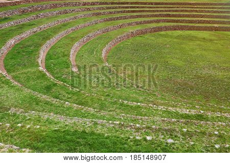 Round Ancient Inca Terraces