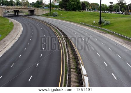 Empty Expressway Landscape