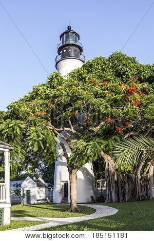 The Key West Lighthouse,  Florida, Usa