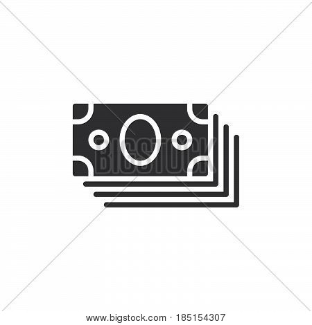 Bundle of money icon vector filled flat sign glyph style pictogram isolated on white. Symbol logo illustration. Pixel perfect
