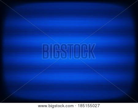 Horizontal blue tv scanlines illustration background hd