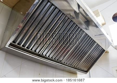 Close up metal vent channel grid indoors