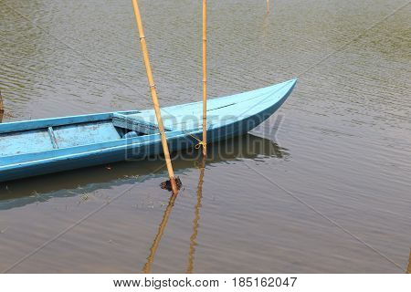 Long tail boat on the river in Thailand