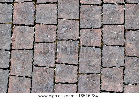 Paving Slabs,patterned Paving Tiles, Cement Brick Floor Background.