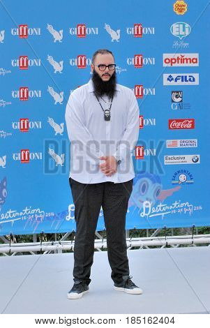 Giffoni Valle Piana Sa Italy - July 23 2016 : Andrea D'Alessio at Giffoni Film Festival 2016 - on July 23 2016 in Giffoni Valle Piana Italy