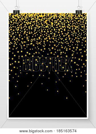 Confetti Poster Binder Clip Celebration Mock Up Night Star 1