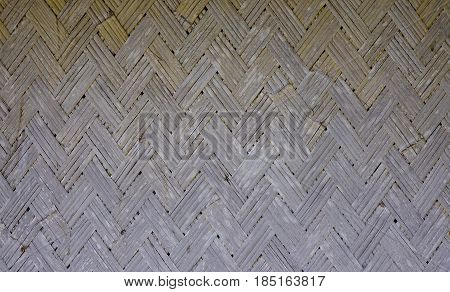 Native Thai style bamboo pattern basketry handmade and wall