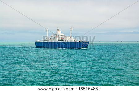 Ferry in the Kerch Strait of the Azov Sea