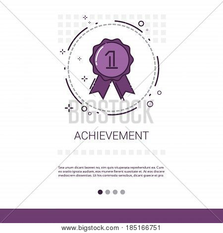Achievement Medal Appreciations Business Evaluation Icon Thin Line Vector Illustration
