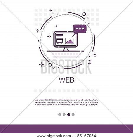 Web Design Software Development Computer Programming Device Technology Banner With Copy Space Vector Illustration