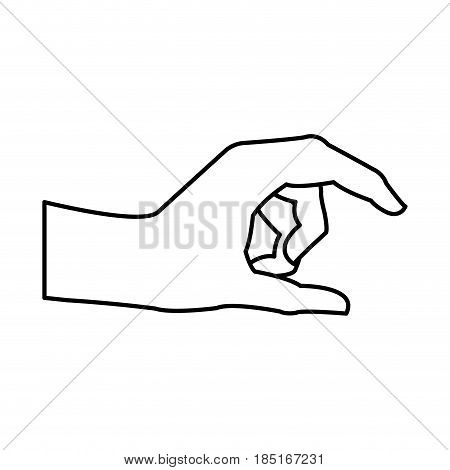 human hand health care medical line vector illustration