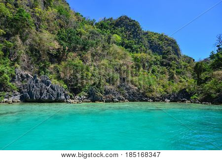 Tropical Sea At Sunny Day In Coron, Philippines