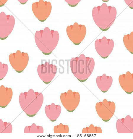 cute flowers pattern decorative icon vector illustration design