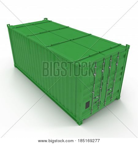 collapsible shipping container isolated on white background. 3D illustration
