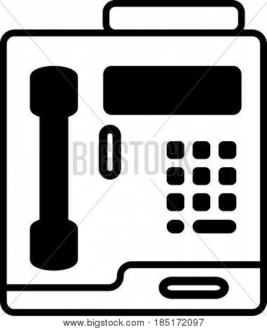 Pay Phone Icon  Raster Illustration
