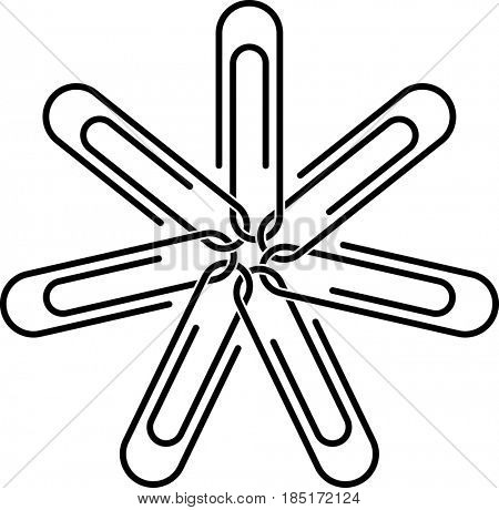 Paper Clip  Raster Illustration