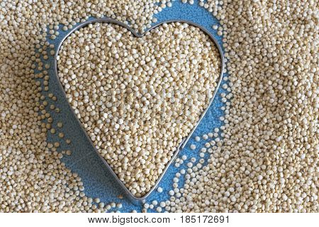 Healthy Eating: White Quinoa Seeds.