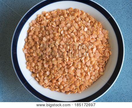 Healthy Eating: Yellow Or Orange Split Peas.