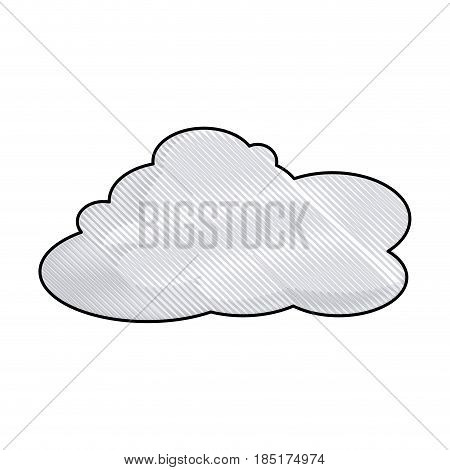 drawing cloud space climate heaven vector illustration