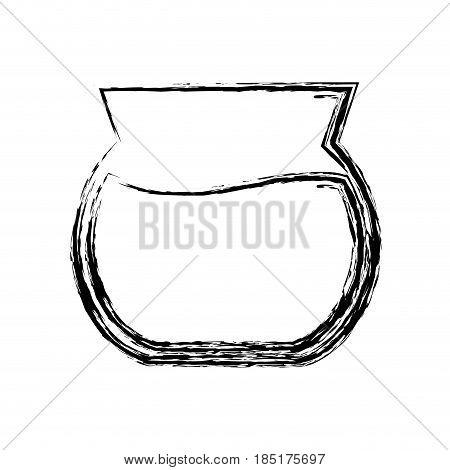 fishbowl icon over white background. vector illustration