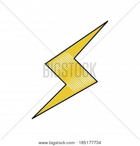 drawing thunderbolt power climate image vector illustration